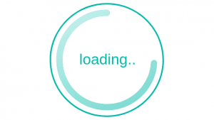 Slow Loading Icon on a website.