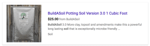 Example showing no review stars in search results for a product.